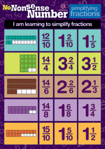 Number Poster: Simplifying fractions, Mid