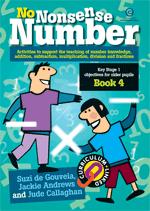 No Nonsense Number: KS 1 for older pupils Bk 4