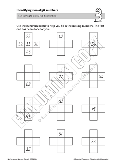 Identifying two-digit numbers Cover