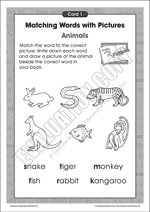 The alphabet: Match words with pictures