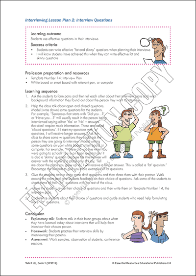 Interviewing Lesson Plan 2 Cover