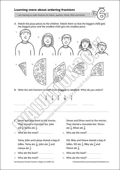 Learn more about ordering fractions Cover