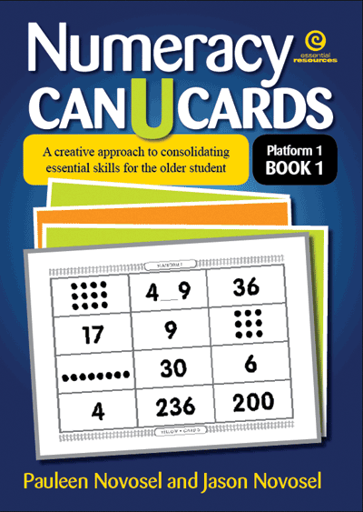 Numeracy CAN U CARDS for the older student P1 Bk 1 Cover