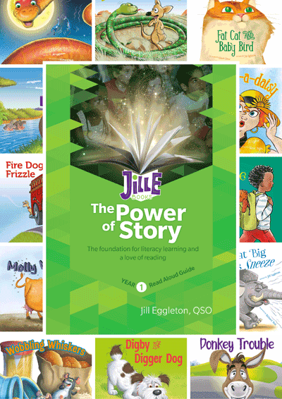 JillE Read Aloud Books and Teacher Guide, Year 1 Cover