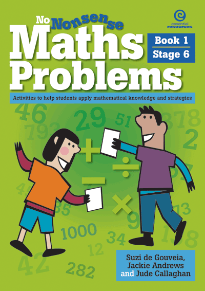 No Nonsense Maths Problems Stage 6 Bk 1 Cover