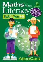 Maths Every Day: Maths Meets Literacy Bk 1 Yrs 7-9