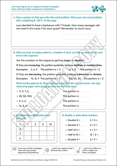 Strategies for solving number patterns Cover