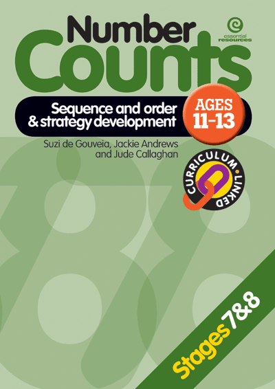 Number Counts: Sequence and order  & Strategy (Stages 7 & 8) Cover
