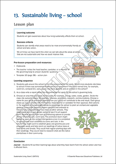 Sustainable living at school Cover