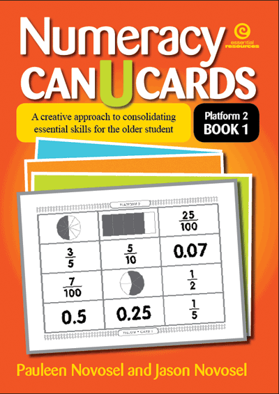Numeracy CAN U CARDS for the older student P2 Bk 1 Cover