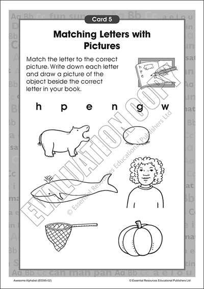The alphabet: Match letters with pictures Cover