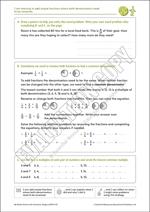 Renaming denominators to add fractions