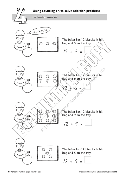 Use counting on to solve addition problems Cover