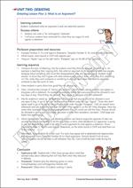 Debating Lesson Plan 1