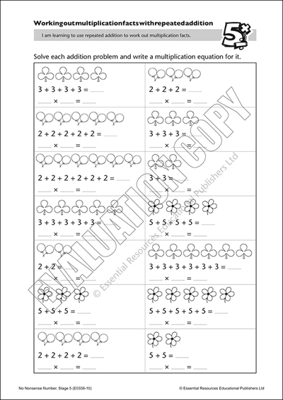 Use repeated addition to solve multiplication facts Cover