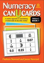 Numeracy CAN U CARDS for the older student P2 Bk 1