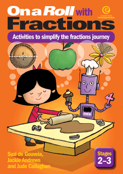 On a Roll with Fractions Stgs 2-3 Cover