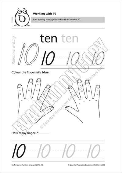 Recognise and write the number 10 Cover