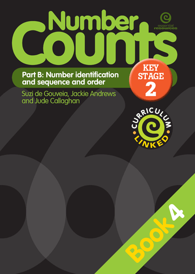 Number Counts: Pt B - Number identification  (KS2) Bk 4 Cover