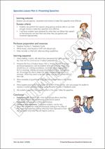 Speeches Lesson Plan 5