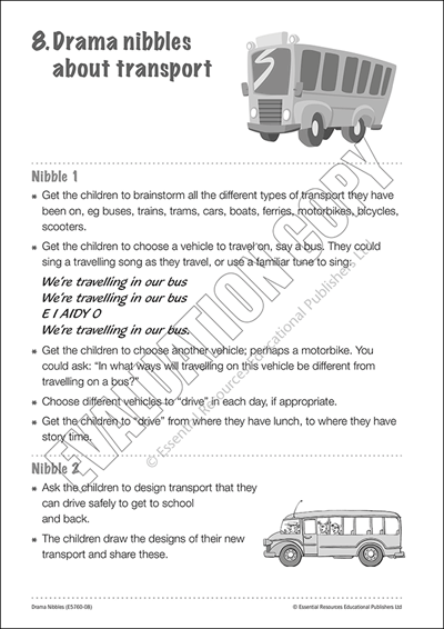 Drama starters & ideas about transport Cover