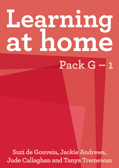 Learning at Home: Pack G – 1 Cover